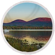 Lake Cruise Round Beach Towel