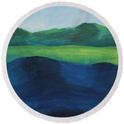 Lake Day Round Beach Towel