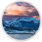 Round Beach Towel featuring the photograph Lake Dillon by Sebastian Musial
