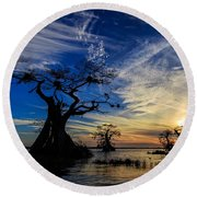 Lake Disston Sunset Round Beach Towel
