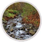 Lake District Mountain Stream Round Beach Towel