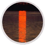 Lake Dora Sunset Round Beach Towel