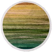 Lake Round Beach Towel by Ely Arsha
