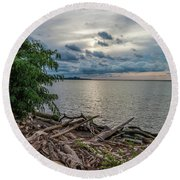 Lake Erie Serenade Round Beach Towel