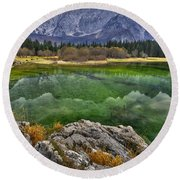Lake Fusine Round Beach Towel