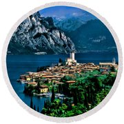 Lake Garda Round Beach Towel