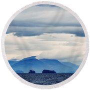 Round Beach Towel featuring the photograph Lake George Is The Queen Of American Lakes by Kendall McKernon