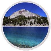 Round Beach Towel featuring the photograph Lake Helen Mount Lassen 2 by Frank Wilson