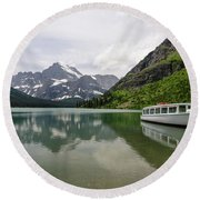 Round Beach Towel featuring the photograph Lake Josephine by Margaret Pitcher