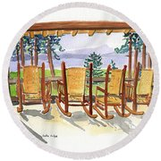 Lake Lodge Round Beach Towel