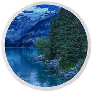 Lake Louise Round Beach Towel by Heather Vopni