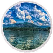 Lake Lure Beauty Round Beach Towel