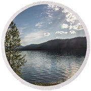 Lake Mcdonald - Glacier National Park Round Beach Towel