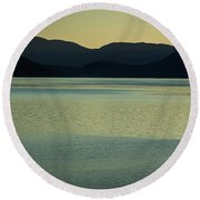 Lake Mcdonald Sunset Round Beach Towel