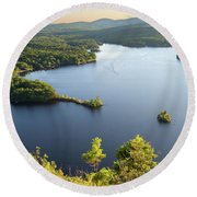 Lake Megunticook, Camden, Maine  -43960-43962 Round Beach Towel