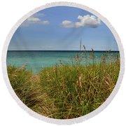 Lake Michigan Beauty  Round Beach Towel
