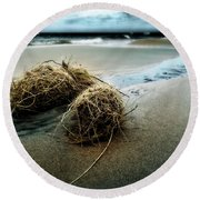 Lake Michigan Tumbleweed Round Beach Towel