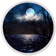 Lake Midnight Round Beach Towel