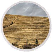 Lake Missoula Round Beach Towel