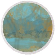 Lake Mountain Round Beach Towel