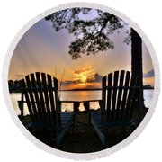 Lake Murray Relaxation Round Beach Towel
