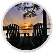 Lake Murray Relaxation Round Beach Towel