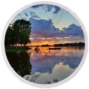 Lake Murray Sc Reflections Round Beach Towel