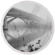 Lake Natoma Crossing Round Beach Towel