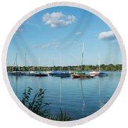 Lake Nokomis Minneapolis City Of Lakes Round Beach Towel