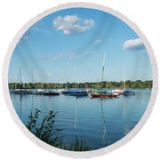Lake Nokomis Minneapolis City Of Lakes Round Beach Towel