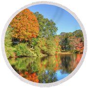 Lake Noquochoke, Dartmouth, Ma Round Beach Towel