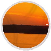 Round Beach Towel featuring the photograph Lake Of The Ozarks 1 by Don Koester
