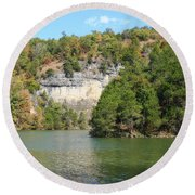 Lake Of The Ozarks Round Beach Towel