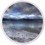 Lake Pend D'oreille At 41 South Round Beach Towel