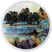 Lake Point Round Beach Towel
