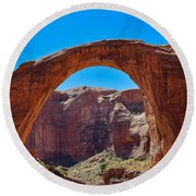 Round Beach Towel featuring the photograph Lake Powell - Rainbow Bridge by Dany Lison