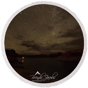 Round Beach Towel featuring the photograph Lake Powell Stars by Brenda Jacobs