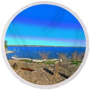 Lake Pueblo Painted Round Beach Towel