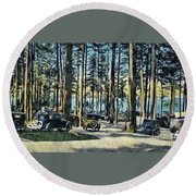 Lake Shore Park - Gilford N H Round Beach Towel