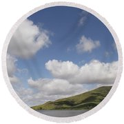 Lake Skinner Round Beach Towel