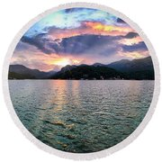 Lake Solstice Round Beach Towel