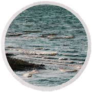 Round Beach Towel featuring the photograph Lake Strom Thurmond by Andrea Anderegg