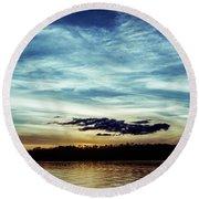 Lake Sunset Round Beach Towel by Scott Meyer