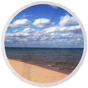 Lake Superior In Summer Round Beach Towel