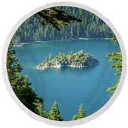 Lake Tahoe Round Beach Towel by RC Pics