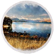 Lake Tekapo Round Beach Towel