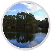 Lake Thomas Hilton Head Round Beach Towel