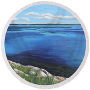 Lake Toho Round Beach Towel