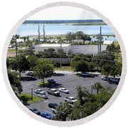 Round Beach Towel featuring the photograph Lake Tohopekaliga 000  by Chris Mercer