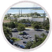 Round Beach Towel featuring the photograph Lake Tohopekaliga  by Chris Mercer